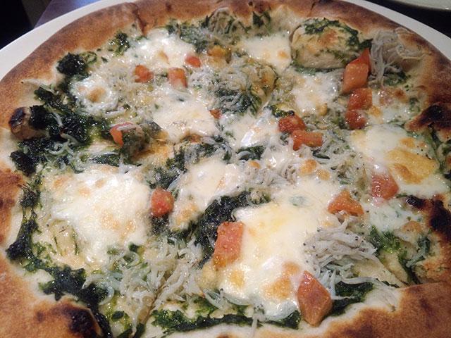 しらすのピザ