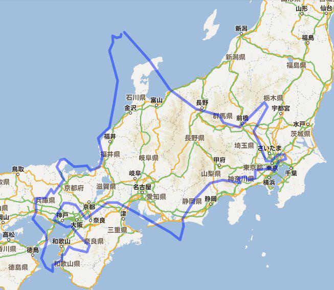 北海道の広さ